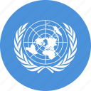 circle, circular, country, flag, flag of united, flags, national, nations, round, un, united, united nations, world icon