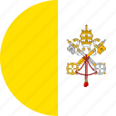 circle, circular, city, country, flag, flag of vatican, flag of vatican city, flags, national, round, vatican, vatican city, vatican city flag, world icon
