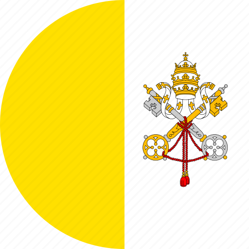 circle, circular, city, country, flag, flag of vatican, flag of vatican city, flags, national, round, vatican, vatican city, vatican city flag, world icon