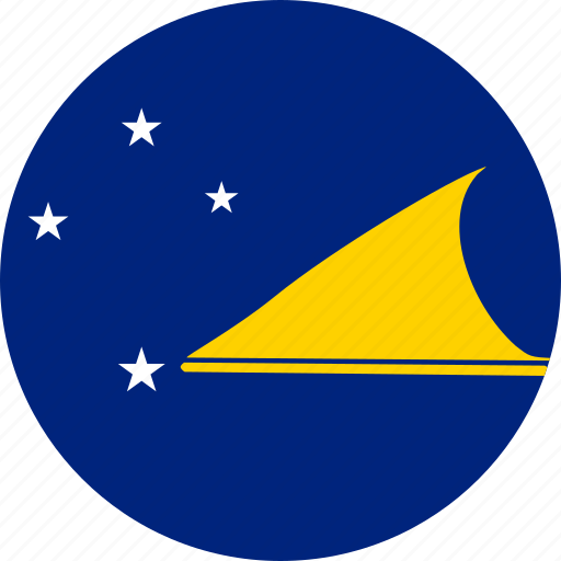 circle, circular, country, flag, flag of tokelau, flags, national, round, tokelau, tokelau flag, world icon