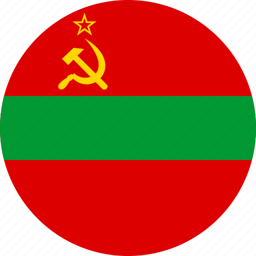 circle, circular, country, flag, flag of transnistria, flags, national, round, state, transnistria, transnistria state, world icon