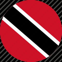 circle, circular, country, flag, flag of trinidad, flags, national, round, tobago, trinidad, trinidad and, trinidad and tobago, tt, world icon