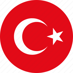 circle, circular, country, flag, flag of turkey, flags, national, round, turkey, turkey flag, world icon