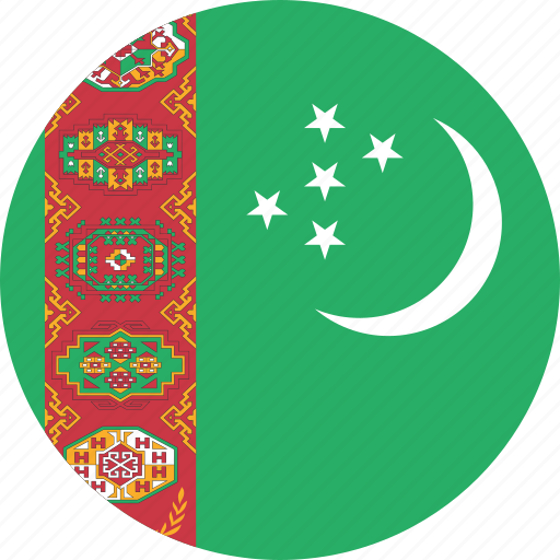 Image result for turkmenistan circle flag