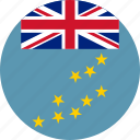 circle, circular, country, flag, flag of tuvalu, flags, national, round, tuvalu, tuvalu flag, world icon