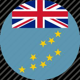circle, circular, country, flag, flag of tuvalu, flags, national, round, tuvalu, tuvalu flag, world icon