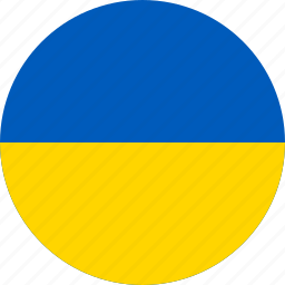 circle, circular, country, flag, flag of ukraine, flags, national, round, ukraine, ukraine flag, world icon