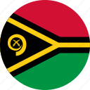 circle, circular, country, flag, flag of vanuatu, flags, national, round, vanuatu, vanuatu flag, world icon