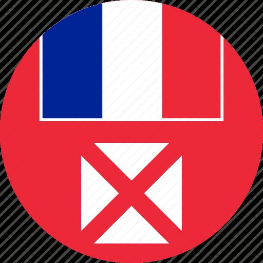 circle, circular, country, flag, flag of wallis, flags, futuna, national, round, wallis, wallis and, wallis and futuna, wf, world icon