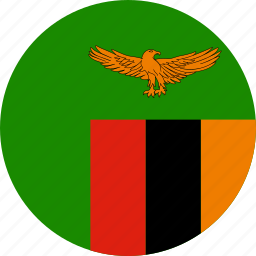 circle, circular, country, flag, flag of zambia, flags, national, round, world, zambia, zambia flag icon