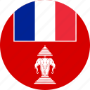 french, laos, flag