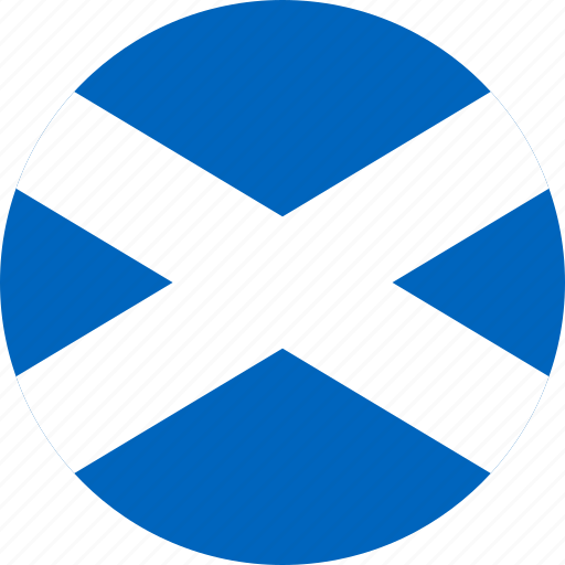 circle, circular, country, flag, flag of scotland, flags, national, round, scotland, scotland flag, world icon