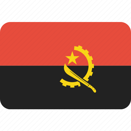 angola, country, flag, national icon
