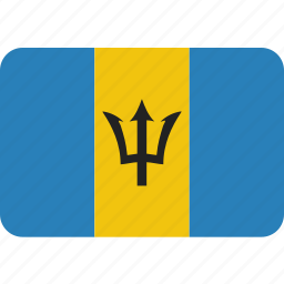 barbados, country, flag, national icon