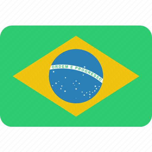 brazil, country, flag, national icon