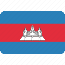 cambodia, cambodian, country, flag icon
