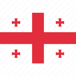 country, flag, georgia, georgian, national icon