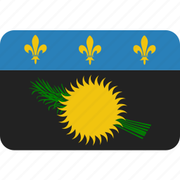 country, flag, guadeloupe, national icon