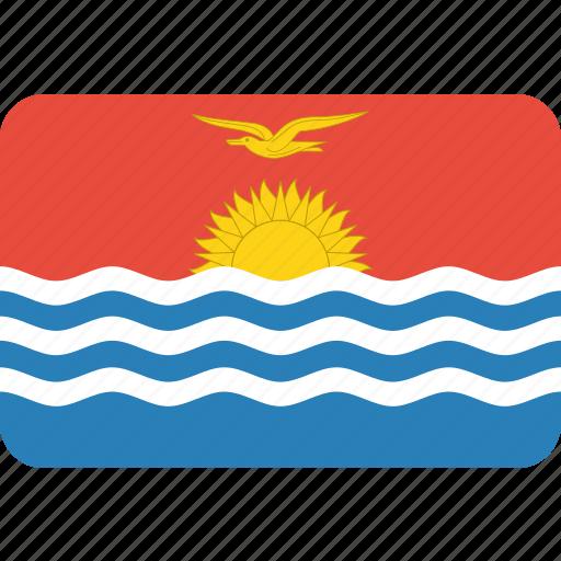 country, flag, kiribati, national icon