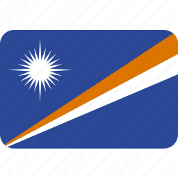 country, flag, islands, marshall, national icon