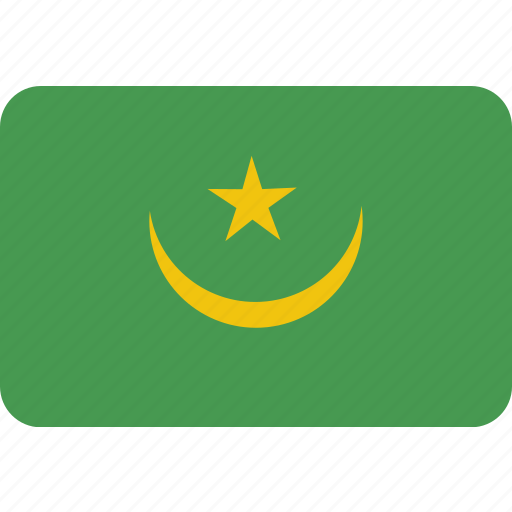 country, flag, mauritania, national icon
