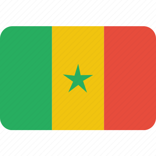 country, flag, national, senegal icon