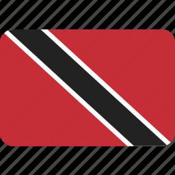 country, flag, national, tobago, trinidad icon