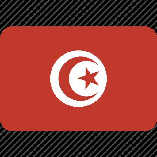 country, flag, national, tunisia icon