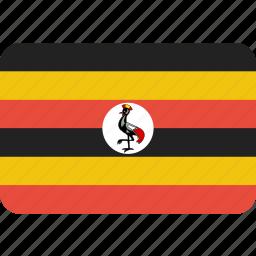 country, flag, national, uganda icon
