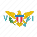 islands, flag, us, virgin