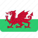 country, flag, national, wales