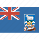 falkland, flag, islands icon