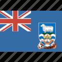 islands, flag, falkland icon