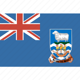 falkland, flag, islands icon