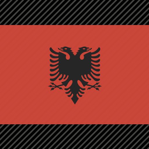 albania, flag icon