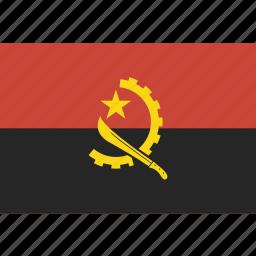 angola, flag icon