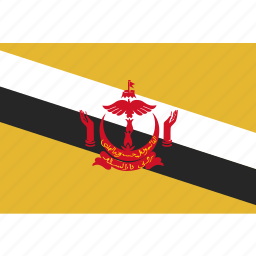 brunei, flag icon