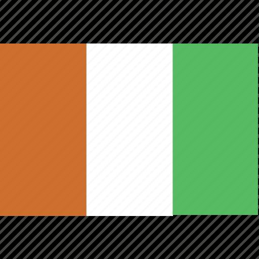 coast, cote, d'ivoire, flag, ivory icon