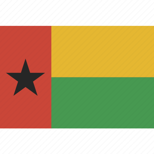 bissau, flag, guinea, guinea-bissau icon