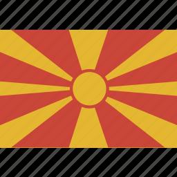 flag, macedonia, republic icon