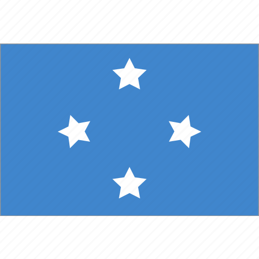federated, flag, micronesia, states icon