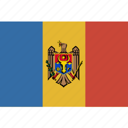 flag, moldova icon