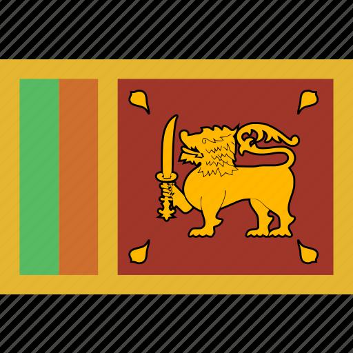 flag, lanka, sri, srilanka icon