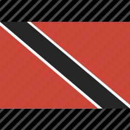 and, flag, tobago, trinidad icon