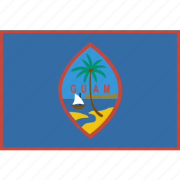 country, flag, guam, nation, rectangle icon