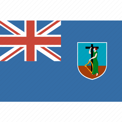 country, flag, montserrat, nation, rectangle icon