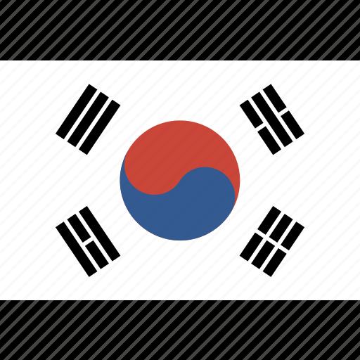 flag, korea, rectangle, south icon