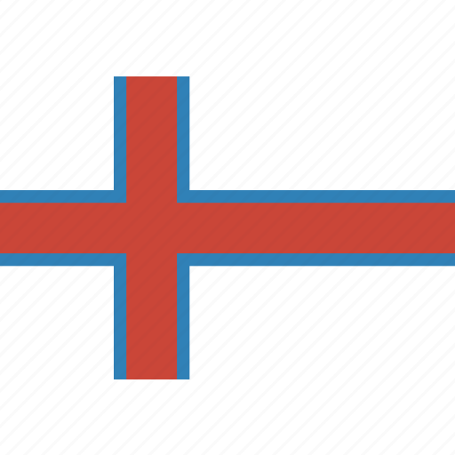 country, faroe, flag, islands, nation, rectangle, the icon