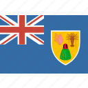 and, caicos, country, flag, islands, nation, rectangle, the, turks icon