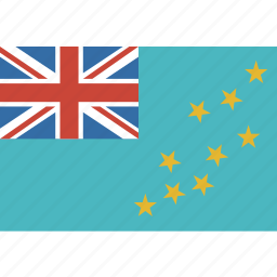 country, flag, nation, rectangle, tuvalu icon